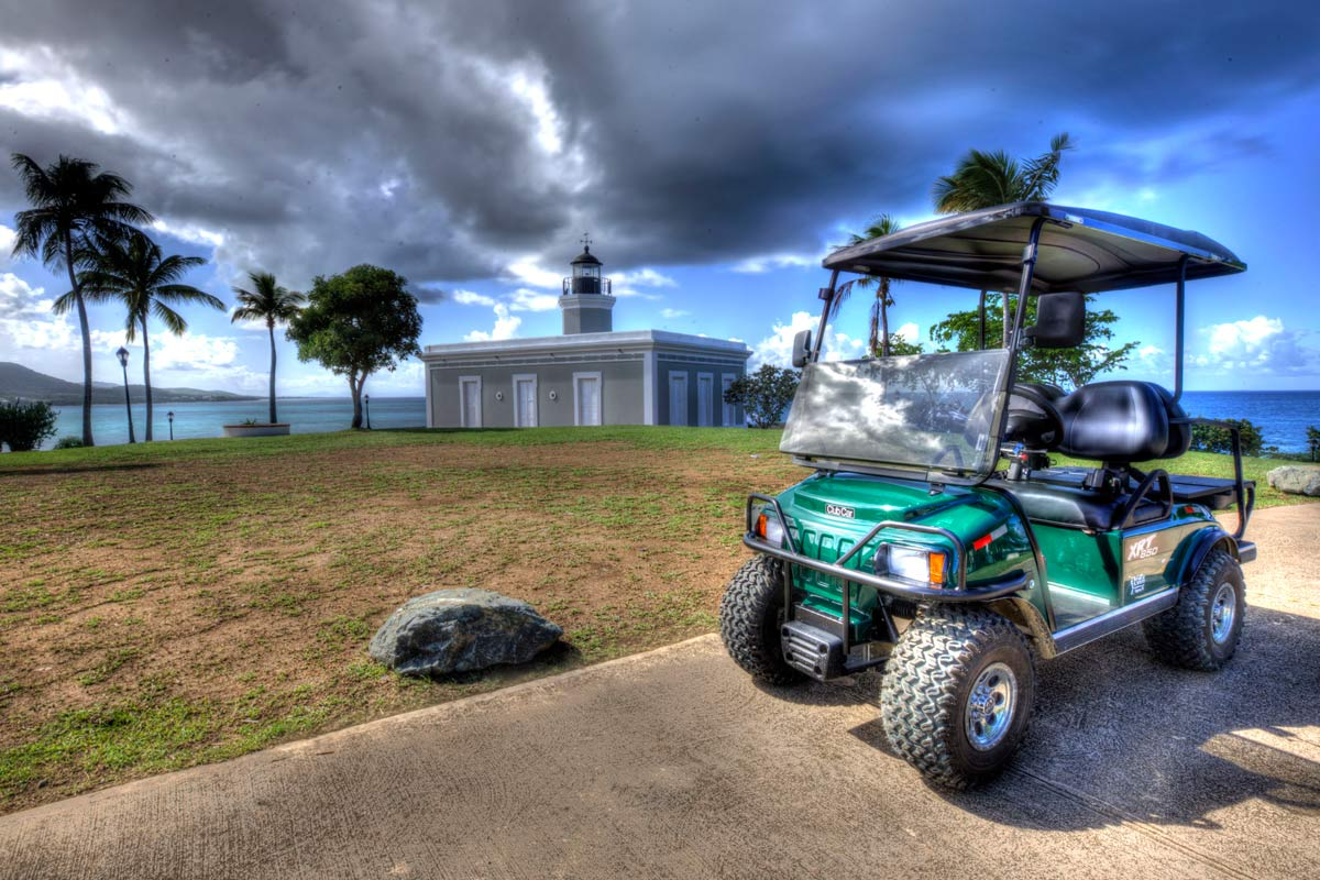 Golf Cart Rental at the Vieques Lighthouse