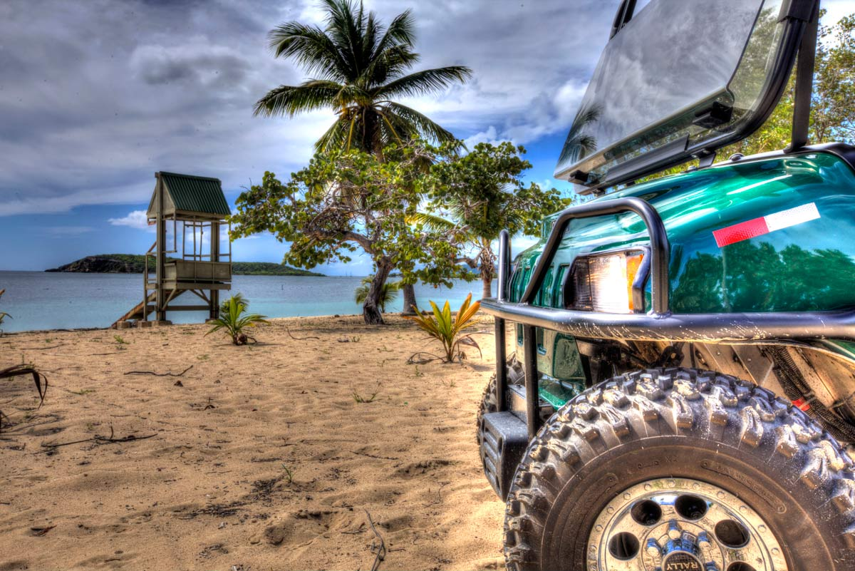 Golf Cart rental at Sun Bay, Vieques