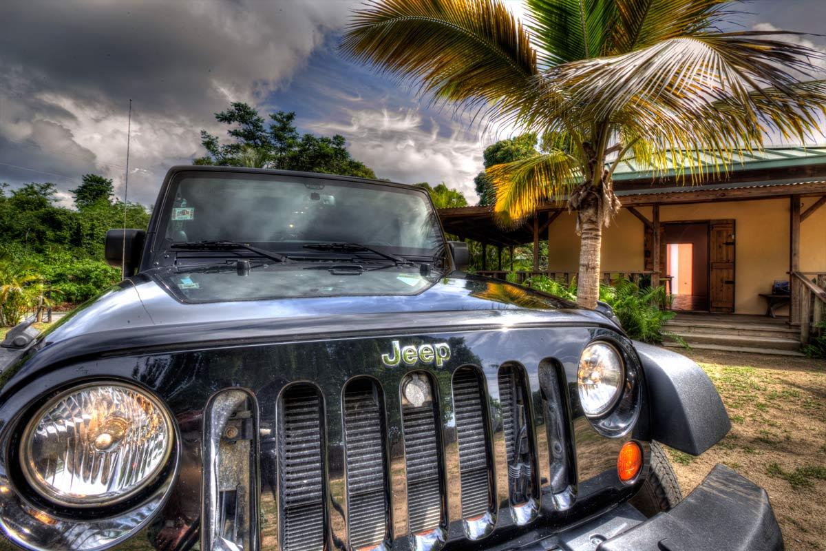 Jeep Wrangler rental at Gallery Galleon