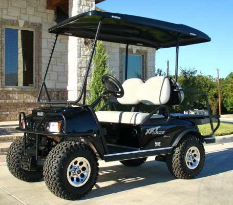 Club Car Xrt 850 Black Lifted Gas Golf Cart 455x400